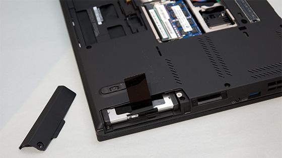 ThinkPad T430s HDDスロット