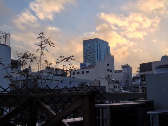 クラウドガーデンから見る夕焼け